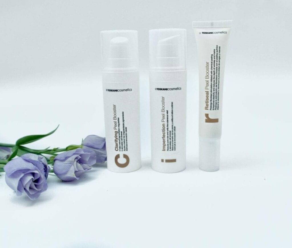 Peel Boosters met Glycolzuur, Fytinezuur, retinol, salicylzuur vermindert pigmentatie, rimpels, acne en littekens