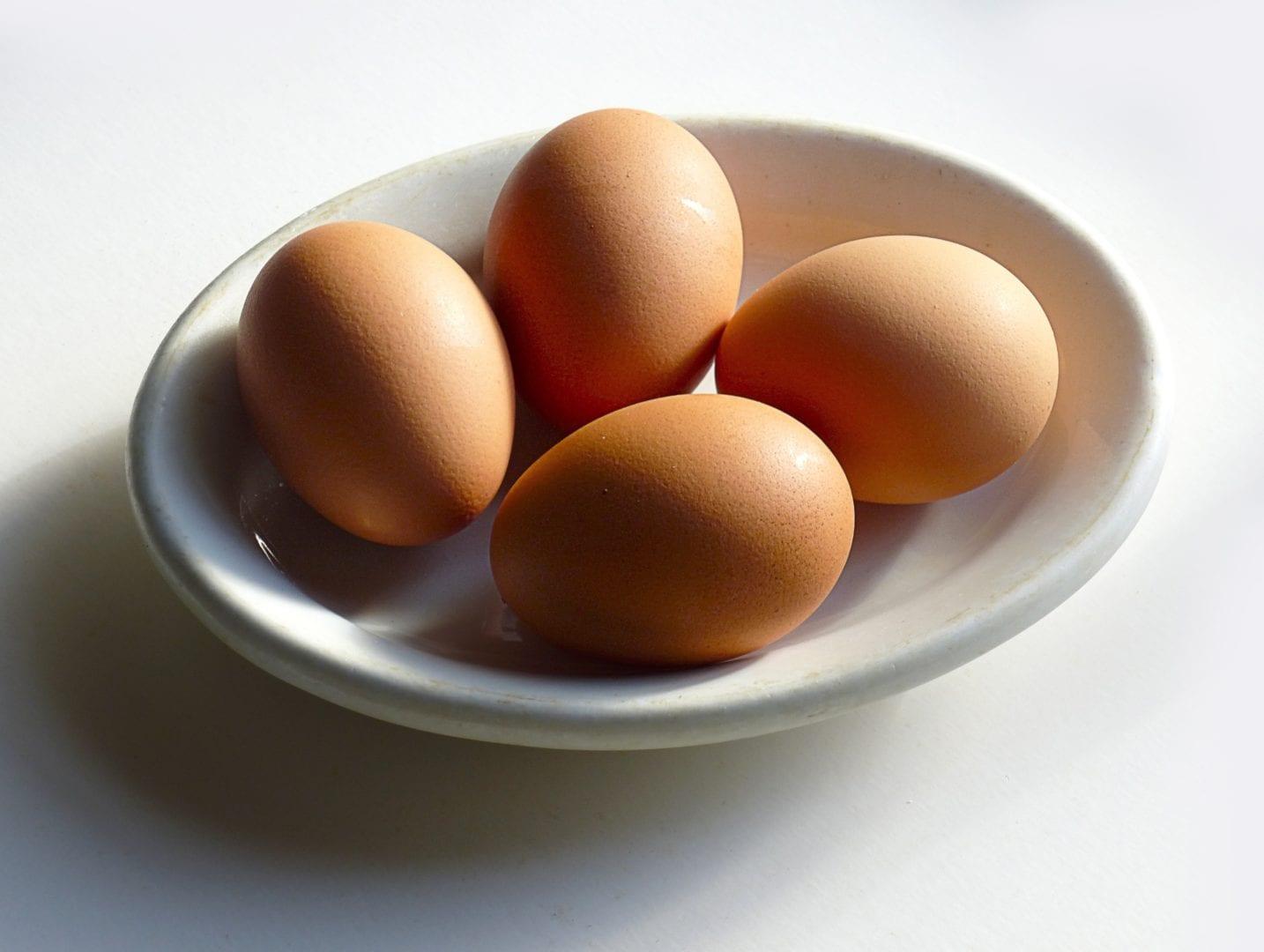 Eieren zijn goed voor je huid | eieren in een bakje