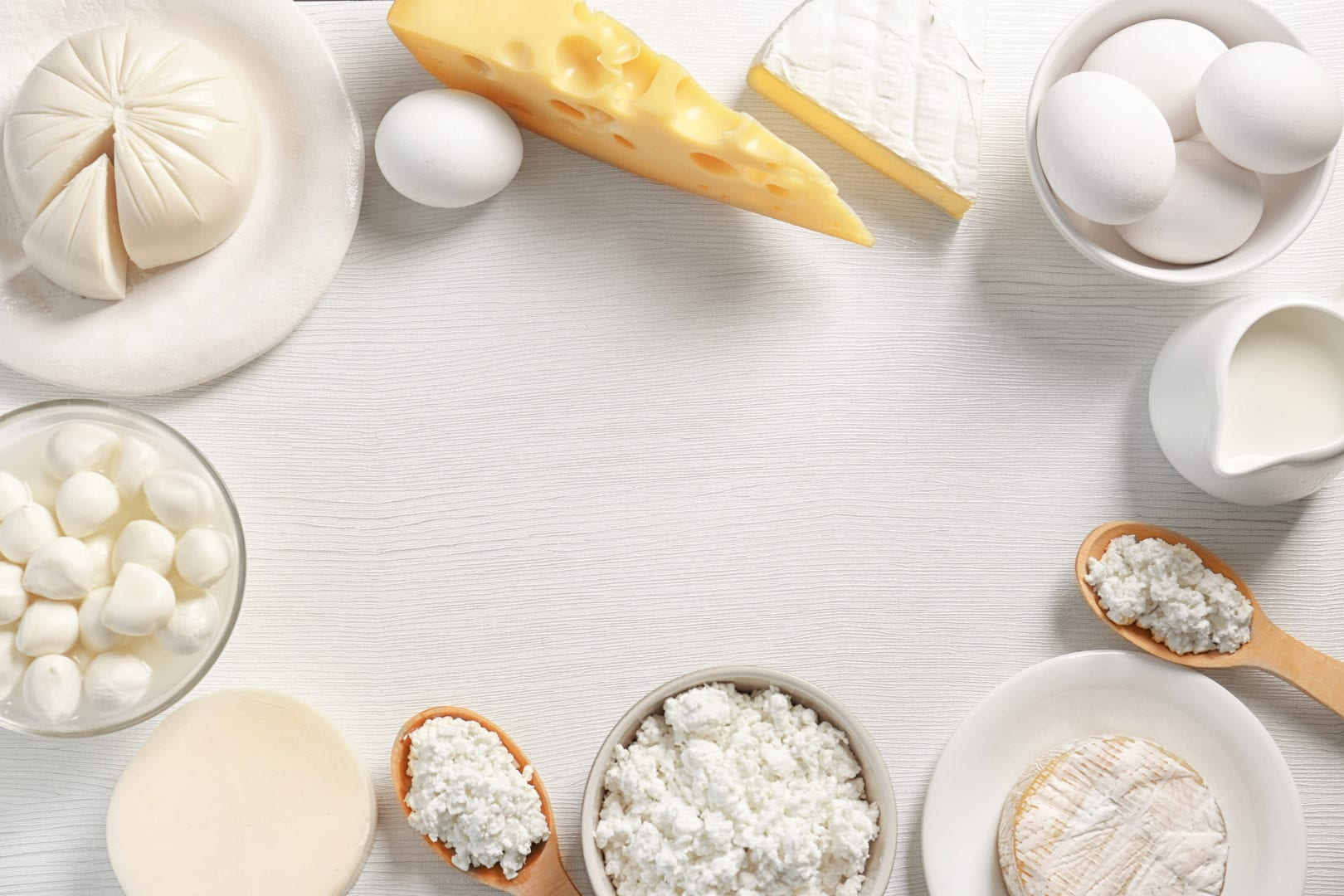 Dairy causes acne | table with cheese and milk