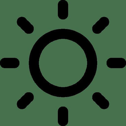zon icoon zwart